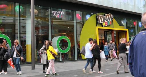 Famous Giant Candy Shop In London Footage