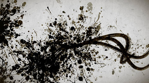 Black paint strokes paper texture background CG動画