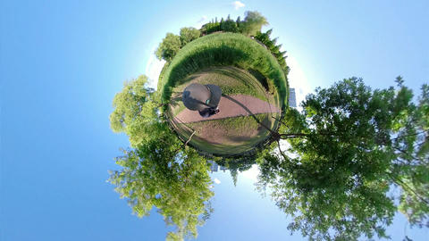 Little Planet View of Ansan Waterside Park 20 Footage