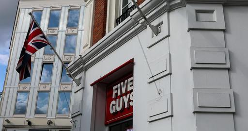 Five Guys Restaurant Covent Garden London Footage