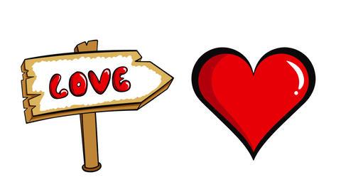 Heart beat and love signa Animation