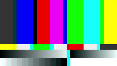 TV Noise 0212: TV color bars malfunction Animation