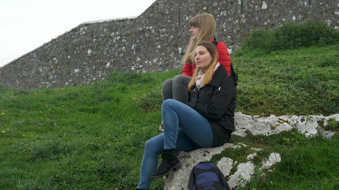 A trip to Ireland - Rock of Cashel is a famous landmark Live Action
