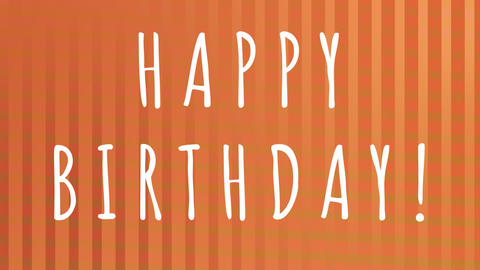 Happy birthday with striped background animated Animation