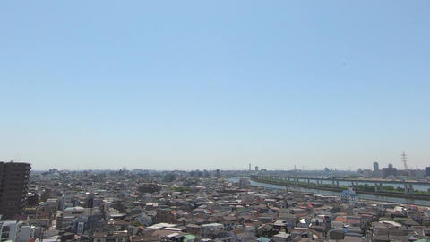 Tokyo cityscape, densely populated area Footage
