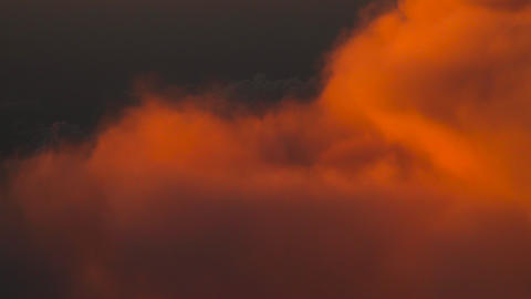 Clouds on fire aerial view Red clouds Live Action