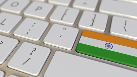 Key with flag of India on the keyboard switches to key with flag of Germany Live Action