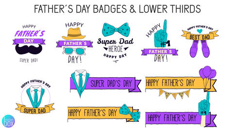 Father´s Day Badges & Lower Thirds After Effects Template
