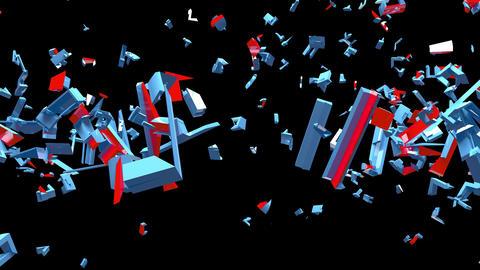 4K Text Bumper Recession 2 Videos animados