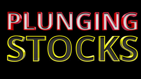 4K Text Bumper Plunging Stocks 2 Animation