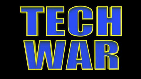 4K Text Bumper Tech War 1 Videos animados