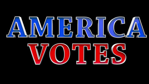 4K Text Bumper America Votes 2 Animation