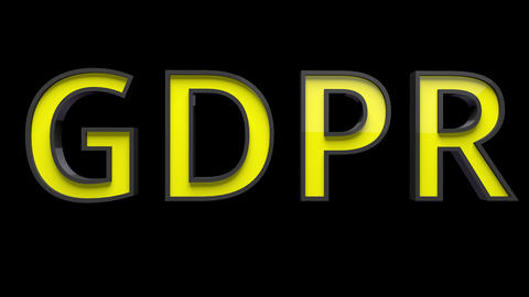 4K Text Bumper GDPR 3 Animation