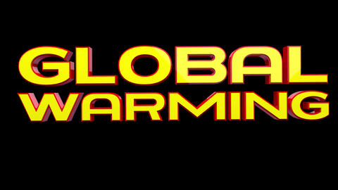 4K Text Bumper Global Warming 3 Animation