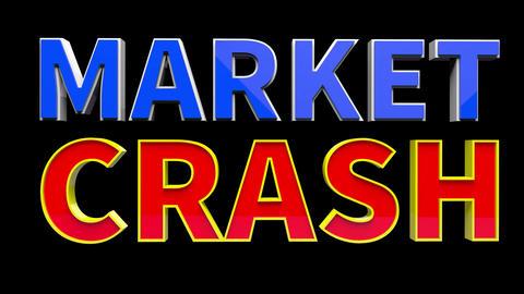 4K Text Bumper Market Crash 2 Animation