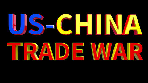 4K Text Bumper US China Trade War 4 Videos animados