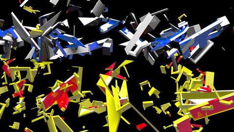4K Text Bumper Market Crash 1 Animation