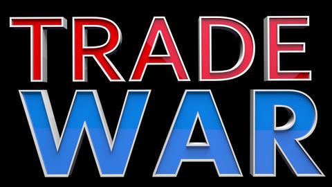 4K Text Bumper Trade War 2 Animation