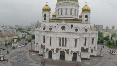 The Cathedral of Christ the Saviour, aerial view Footage