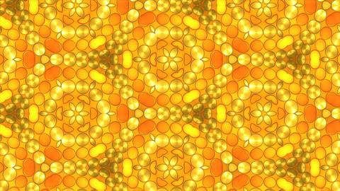Golden lights kaleida background Animation