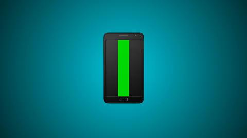 Smartphone turns on background Animation
