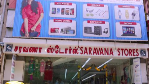 Saravana stores building exterior establishing shot Live Action