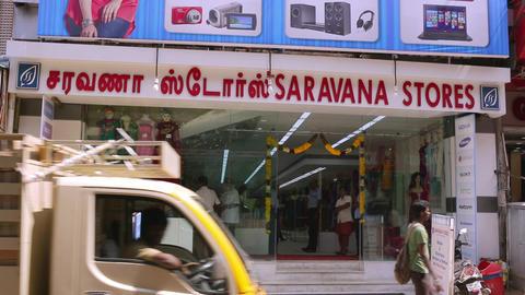 Saravana stores building exterior, A morning exterior establishing shot Live Action