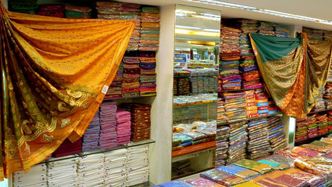 Shop of women's clothing. Sari Shop. Indian Traditional…, Live Action