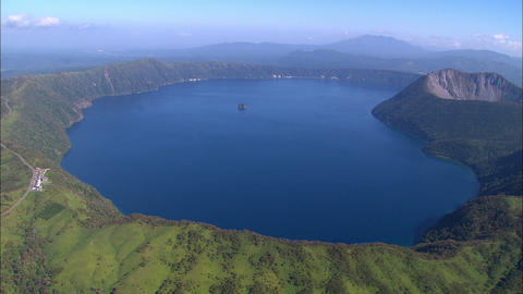 Lake Mashu aerial photography Footage