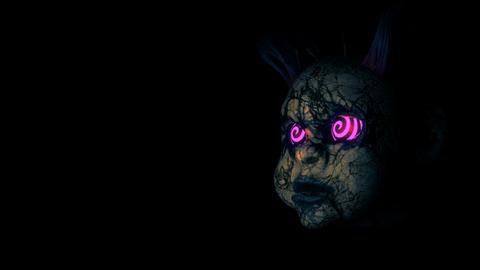 Abandoned Punk Doll Heads VJ Loop Animation