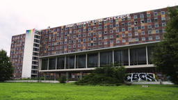 Abandoned Government Building Exterior in Frankfurt, Germany Live Action
