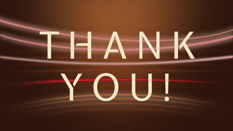 Thank you animation with colored lights in background Animation
