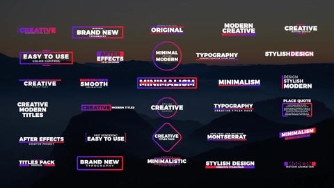 30 Colorful Titles Motion Graphics Template
