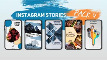 Instagram Stories Pack 4 After Effectsテンプレート