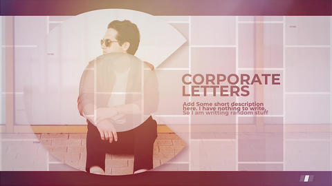 Corporate Letters Apple Motionテンプレート