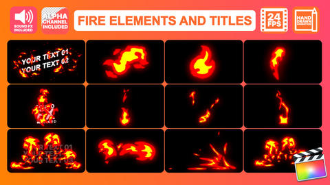 Fire Elements Pack Apple Motion Template