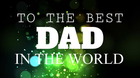 Isolated Happy fathers day quotes Animation