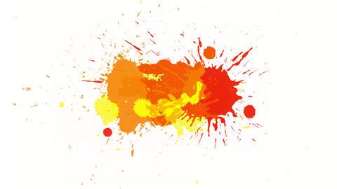 Yellow-orange blot on alpha channel Animation