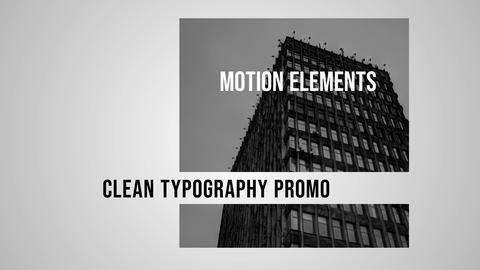 Clean Typo Promo After Effects Template