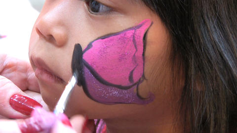Butterfly Face Painting Footage