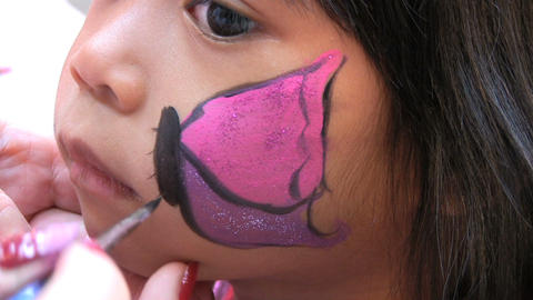 Butterfly Face Painting Stock Video Footage