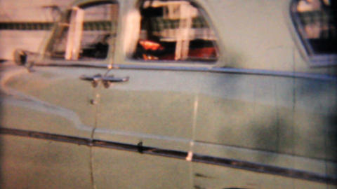 Old 1950s Plymouth Automobile 1958 Vintage 8mm film Stock Video Footage
