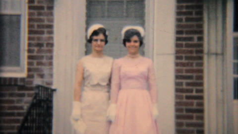 Teenage Girl Graduates From Catholic School 1964 Vintage 8mm film Footage