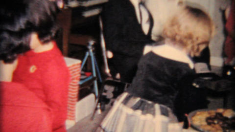 Christmas 1964 Drinking At Party Vintage 8mm film Stock Video Footage