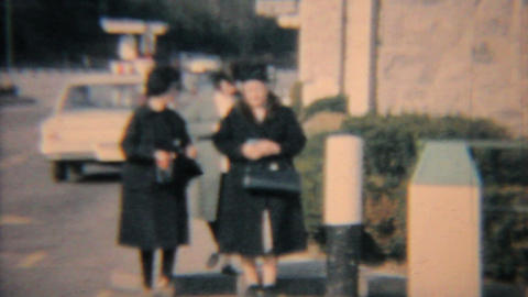 Family Leaving Church 1964 Vintage 8mm film Footage