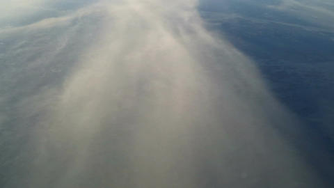 Plane flying over the clouds 2 Stock Video Footage