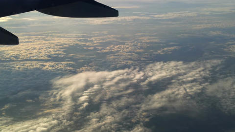 Plane flying over the clouds 6 Footage