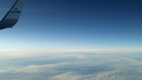 Plane flying over the clouds 8 Footage