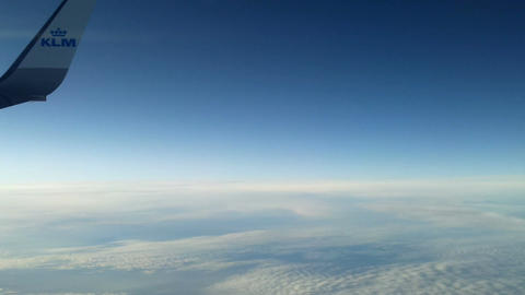 Plane flying over the clouds 8 Stock Video Footage