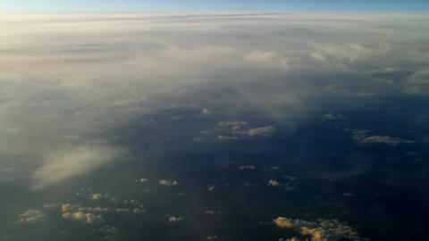 Plane flying over the clouds 10 Stock Video Footage